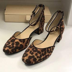 Cabi Kiki leopard print block heel shoes